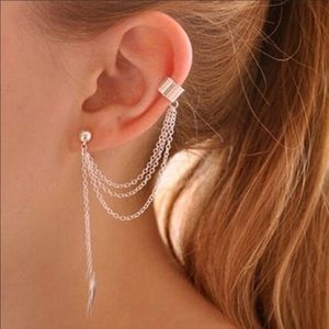 Jewelry - NEW Hanging Boho Earring Ear Clip Cuff Jewelry